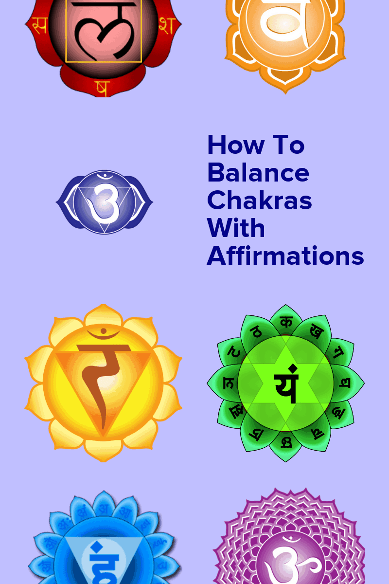 Learn how to balance chakras with affirmations. A simple effective method to release trapped emotion, stored negative energy and blocks in our energy system