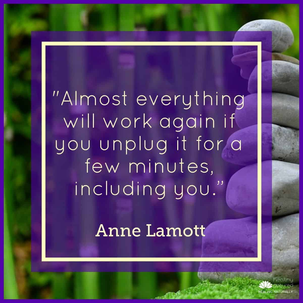 Spend Time Unplugged - Improve Health Outcomes For Self Care