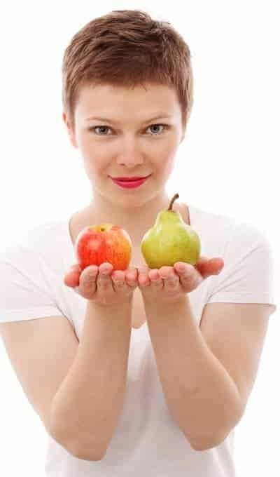 How To Lose Belly Fat - Healthy Eating Apple Pear