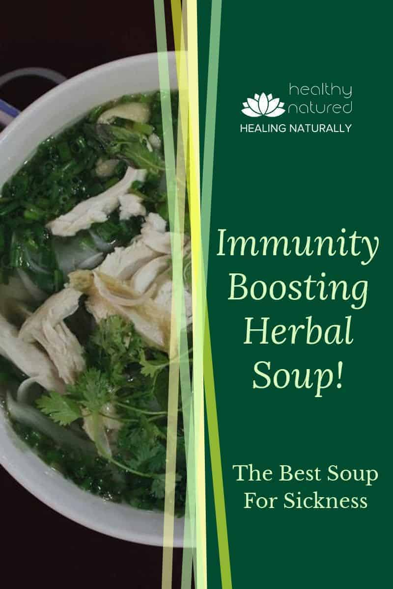 What is the best soup for sickness? Our immunity boosting herbal soup!  It\'s tasty and packed with nutritional goodness to get you back on your feet fast!