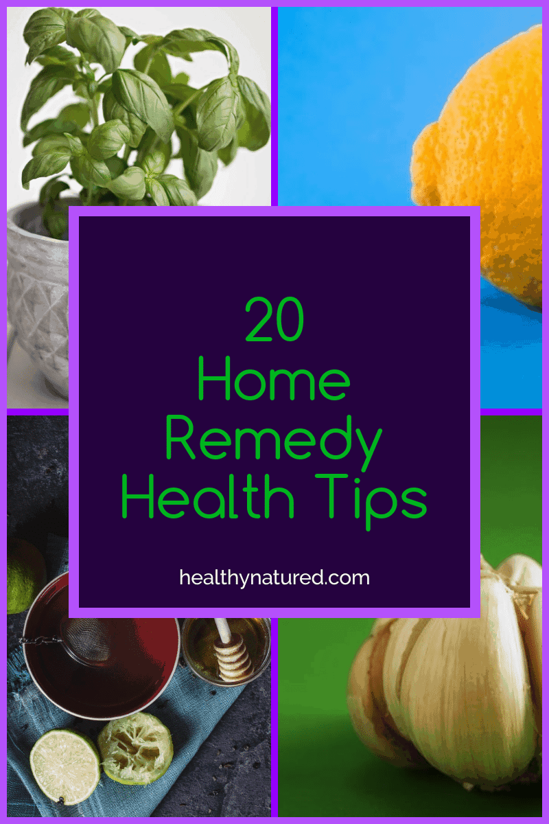 When faced with pain, illness and discomfort we seek treatment that is fast and safe. Don't reach for pills. Discover 20 home remedy health tips. Easy to use, effective for everyone.