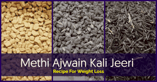 Methi Ajwain Kali Jeeri is a remedy from ayurveda. Used for thousands of years and a way to lose stubborn belly fat!