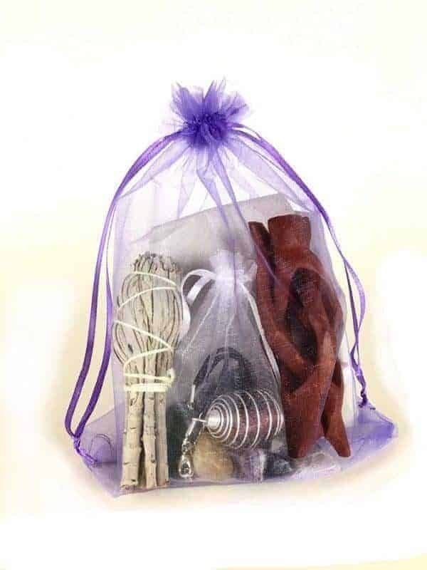 Chakra Stones With Sage Smudge Gift Kit