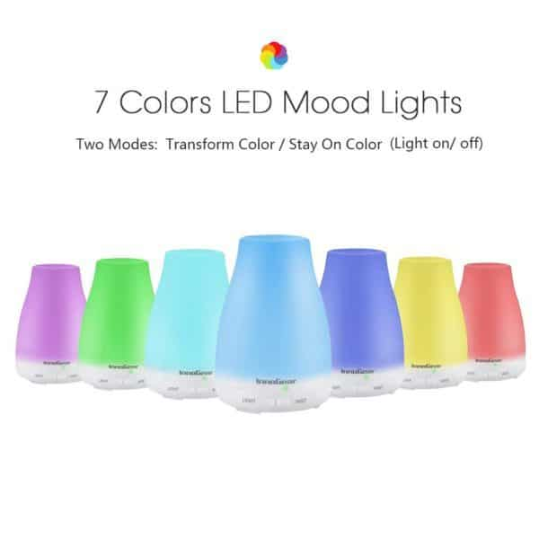 Cool Mist Essential Oil Diffuser led colors