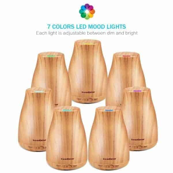Cool Mist Essential Oil Diffuser light wood 1 e1540124337633