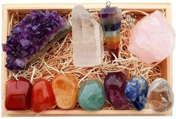 Premium Chakra Healing Crystals Gift Kit