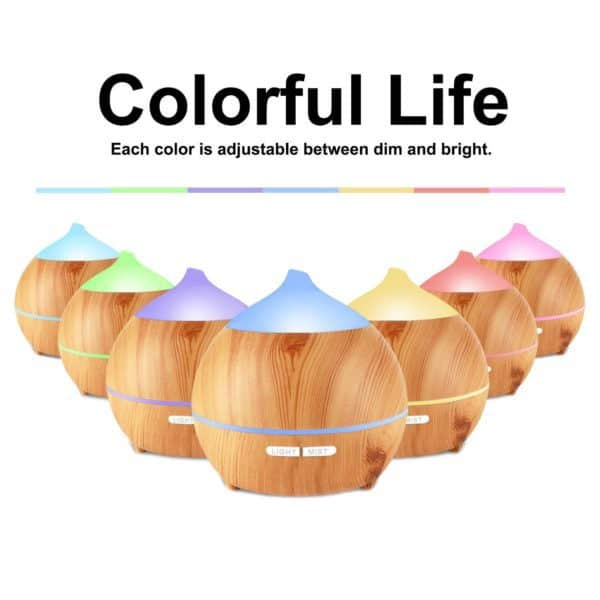 Ultrasonic Diffuser for Essential Oils colors
