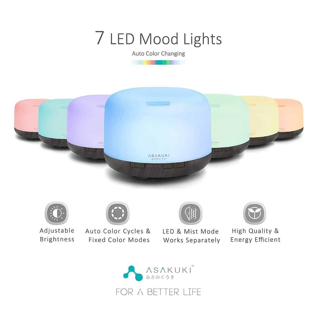 5 In 1 Ultrasonic Premium Essential Oil Diffuser (Aromatherapy For Health)
