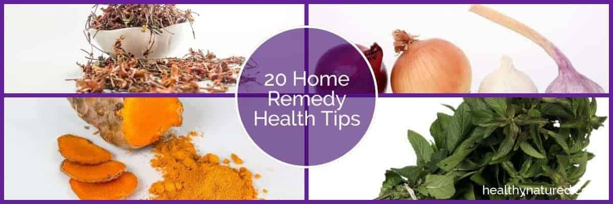 20 home remedy health tips