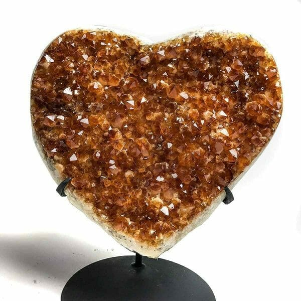 Astro Gallery Of Gems Citrine Cluster Heart