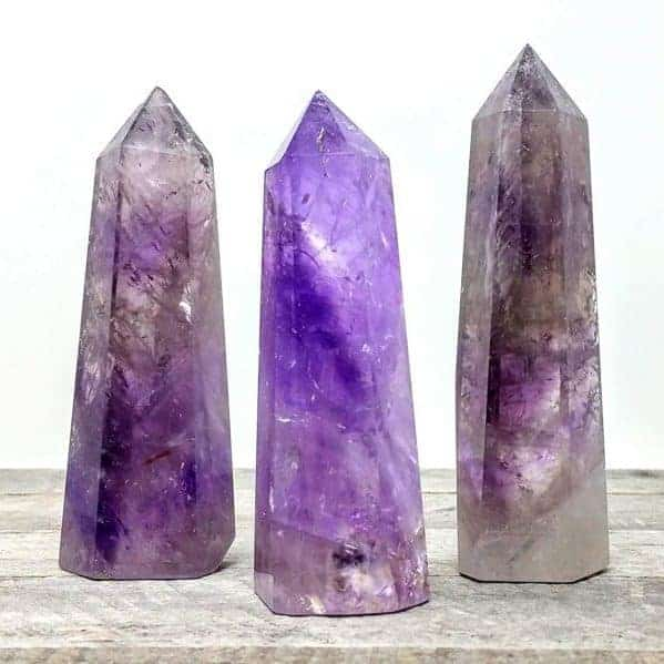 Large Amethyst Quartz Crystal Tower