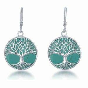 Turquoise Tree Of Life Earrings