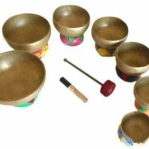 Tibetan Chakra Singing Bowl Set