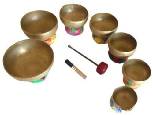 Tibetan Chakra Singing Bowl Set