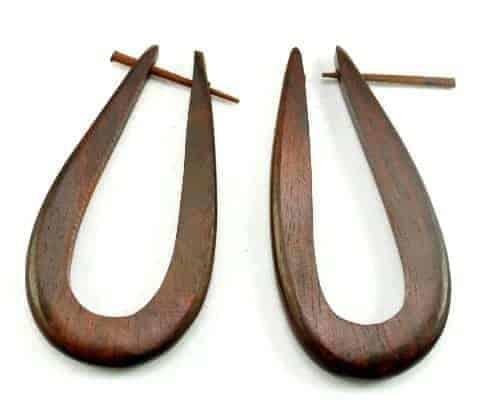 A Pair Of Brown Coconut Earrings Coco Wood Wooden Boho Hippie Earrings