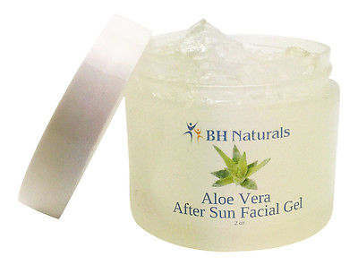 Aloe Vera 100% pure Organic After sun treatment facial gel Sun Burn relief