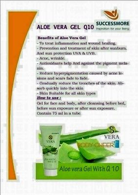 Aloe Vera Gel Skin care Sun protection UAV & UVB Treatment of skin after sunburn
