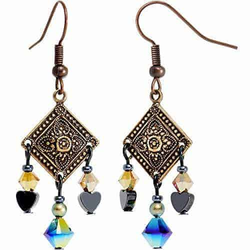 Body Candy Handcrafted Rustic Bohemian Charm Dangle Earrings Created With