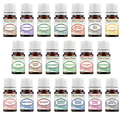 Essential Oil Set 20 - 5 ml. Sampler Kit 100% Pure Therapeutic Grade Bulk Lot