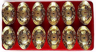 Feng Shui Gold Ingot / Yuan Bao /chinese ancient money for Prosperity good Luck