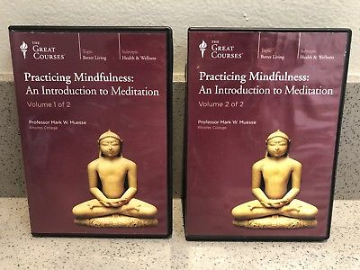 GREAT COURSES: PRACTICING MINDFULNESS: AN INTRODUCTION TO MEDITATION VOL 1 & 2