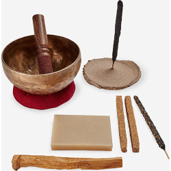 Incausa Bath & Meditation Singing Bowl Set