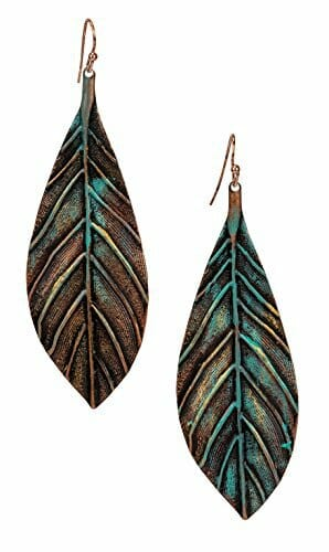 New Handmade Boho Lightweight Statement Leaf Earrings With Detailed