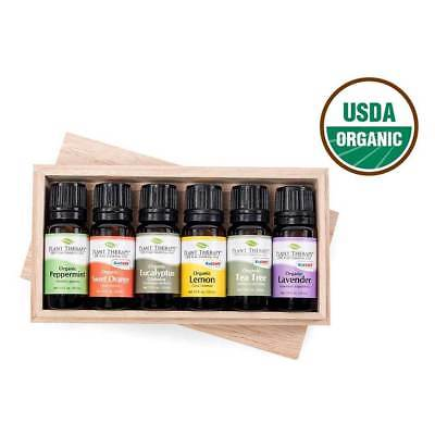 Plant Therapy Top 6 Organic Essential Oils Set 100% Pure, Undiluted