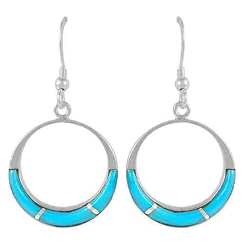 turquoise earrings 925 sterling silver genuine turquoise