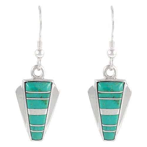Turquoise Earrings In 925 Sterling Silver Genuine Turquoise Turquoise
