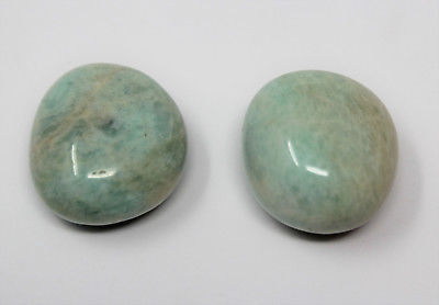 2 Large A Grade Amazonite Tumbled Stones Crystal Healing Gemstone Tumble