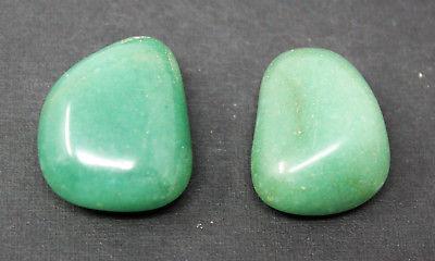2 Large Green Aventurine Tumbled Stone: Crystal Healing Reiki Tumble