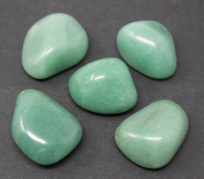 5 Large Green Aventurine Tumbled Stone: Crystal Healing Reiki Gemstone