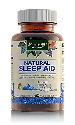 Natural Sleep Aid For Adults By Nature'S Wellness, 60-Count | 100% Herbal Remedy