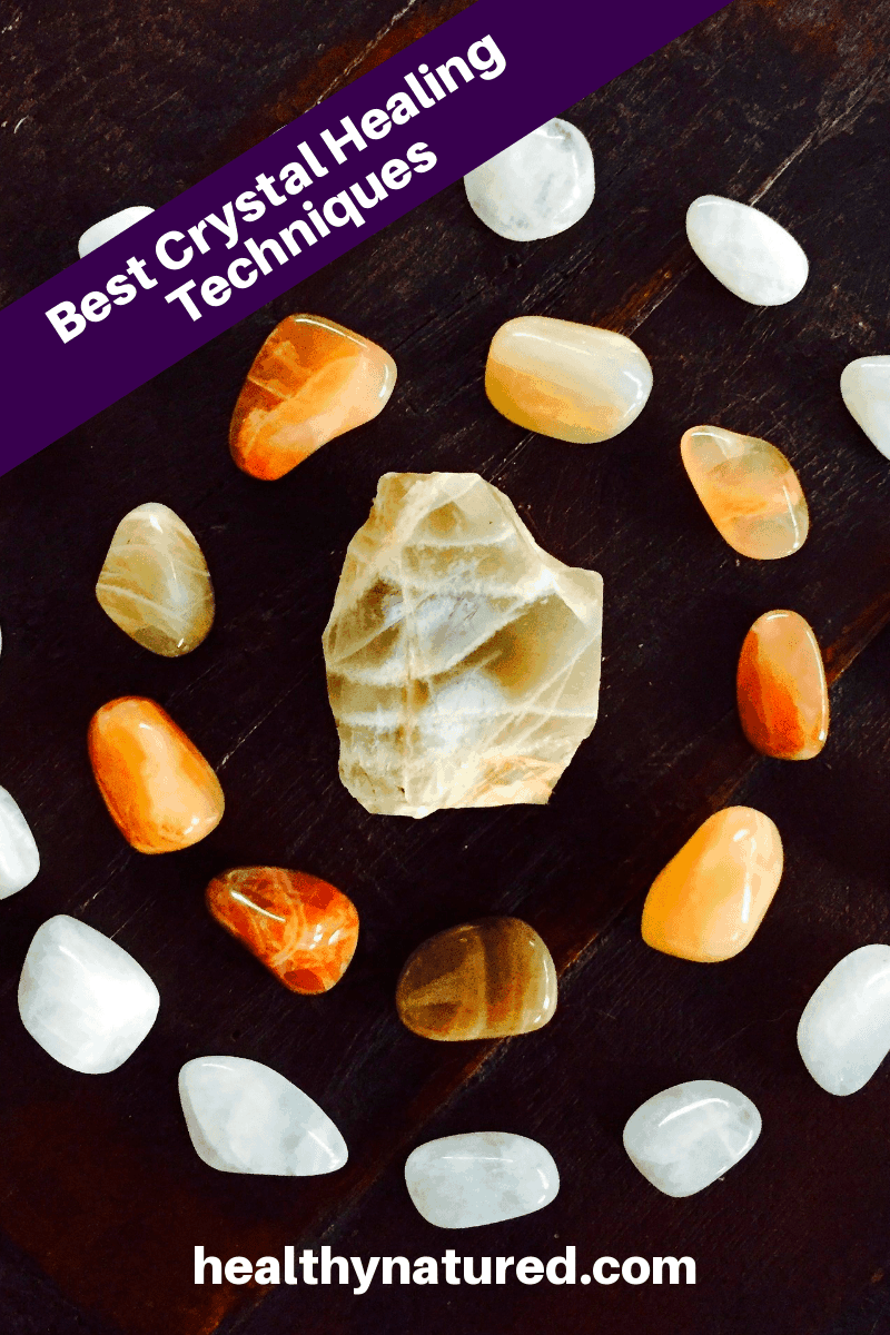 It's time to put your crystals and stones to work for your health and well being! Learn the best crystal healing techniques in this post from healthynatured.com