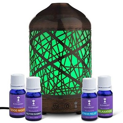 Aromatherapy Essential Oil Diffuser Gift Set - Ultrasonic, Cool Mist Humidifier