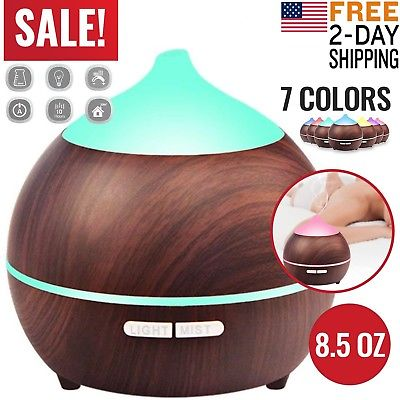 Essential Oil Diffuser Humidifier Scent Air Burner Aromatherapy Ultrasonic Mist