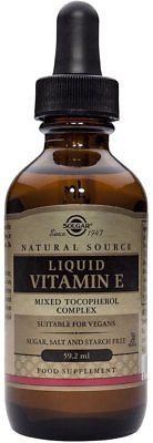 Liquid Vitamin E, Solgar, 2 oz dropper