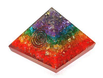 Multistone Stone Orgone Pyramid Energy Generator Reiki Orgonite Healing Crystal