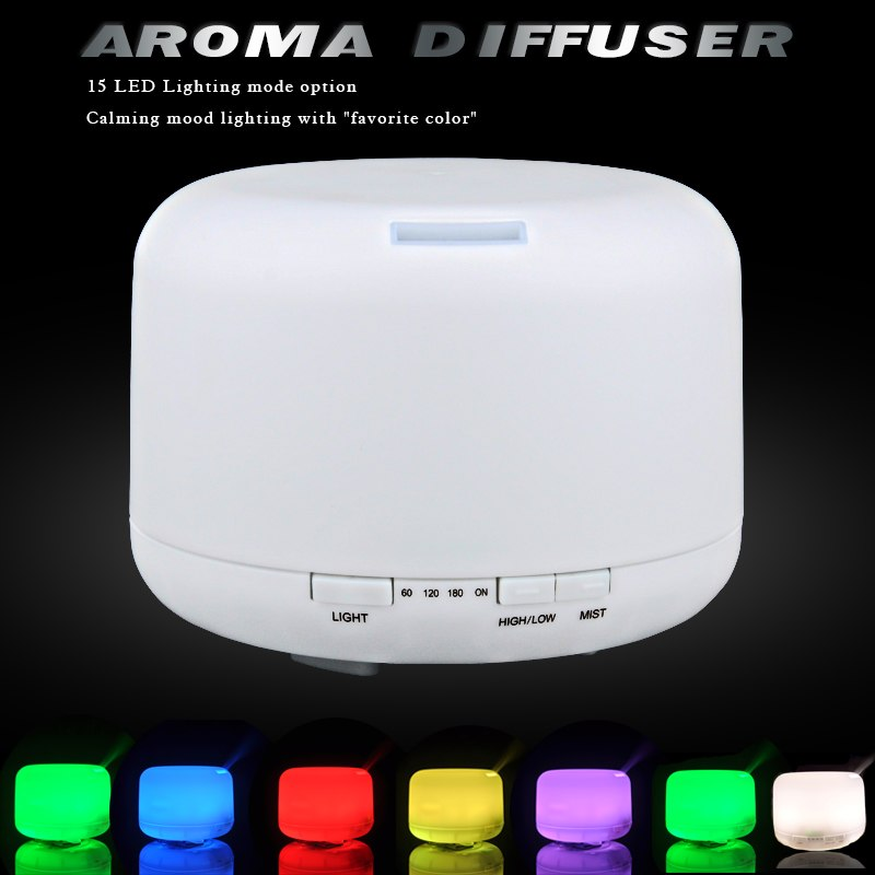 Sensky 500ml 300ml LED light 7 Color Change Ultrasonic Aromatherapy Essential Oil Aroma Diffuser Air Humidifiers Mist Maker