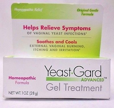 Yeast Gard Gel Treatment Advanced Homeopathic Relief 1 oz Exp 01/2020