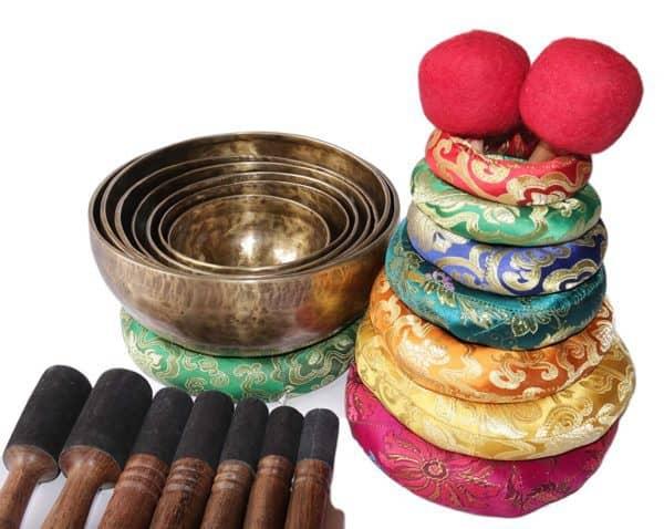 Chakra Healing Tibetan Singing Bowl Set of 7
