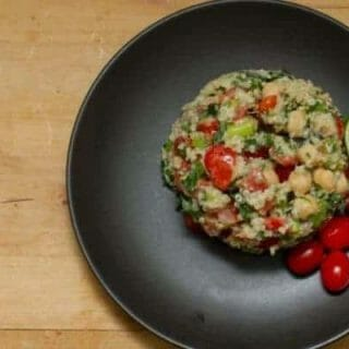 quinoa and chickpea salad - natural remedies for constipation