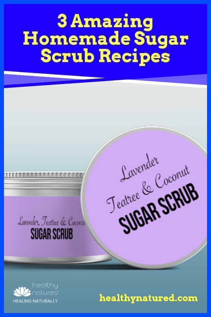 Why do so many recipes recommend you scrub with sugar? Because the sugar in homemade sugar scrub recipes is a natural source of glycolic acid which increases new skin cell production and breaks down the protein that keeps the dead cells hanging onto your skin. These 3 scrubs result is glowing polished smooth skin!