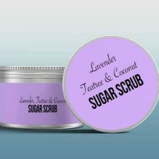 Lavender Teatree and Coconut - Homemade Sugar Scrub Recipes