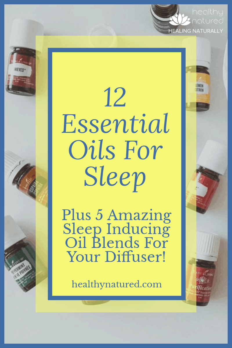 Discover the 12 best essential oils for sleep and 5 amazing blends. Proven to aid relaxation, enhance calmness, reduce tension and promote a deeper, better quality sleep. #essentialoils #sleepwell