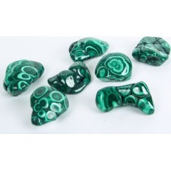 Polished Malachite: Chakra Healing Crystals Natural Stone - D.R. Congo