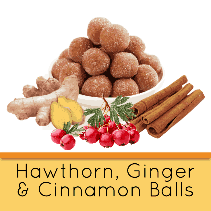 Hawthorn, Ginger & Cinnamon Balls