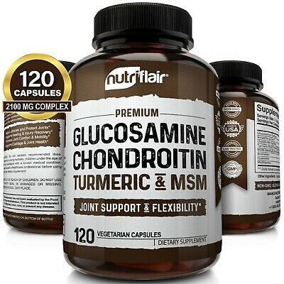 ☀ Glucosamine Chondroitin Turmeric &Amp; Msm With Boswellia - Complete Joint Pills
