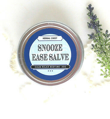 Sleep Aid Balm For Insomnia, Natural Lavender Chamomile Bedtime Herbal Remedy